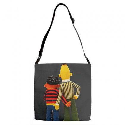 Real Love Bert And Ernie Adjustable Strap Totes Designed By Jurdex Tees