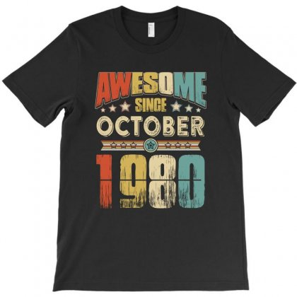 Awesome Since October 1980 T-shirt Designed By Hung
