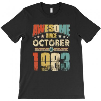Awesome Since October 1983 T-shirt Designed By Hung