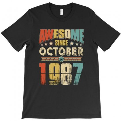 Awesome Since October 1987 T-shirt Designed By Hung