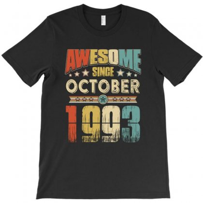 Awesome Since October 1993 T-shirt Designed By Hung