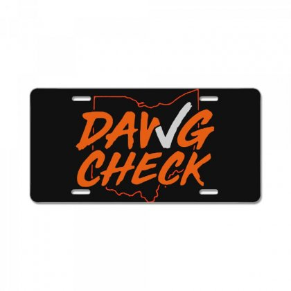 Dawg Check    Cleveland Brown License Plate Designed By Jurdex Tees