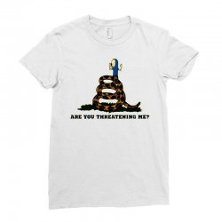 flag beavis are you threatening me Ladies Fitted T-Shirt | Artistshot
