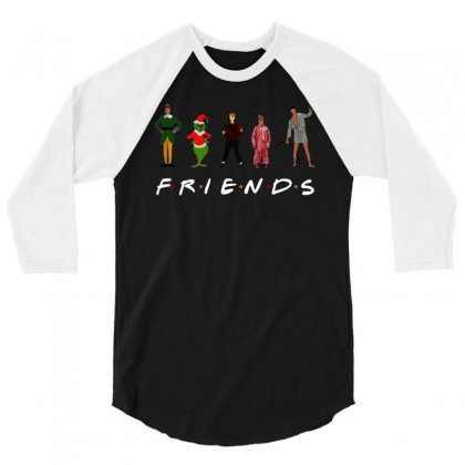Christmas Grinch Kevin Friends Characters For Dark 3/4 Sleeve Shirt Designed By Jurdex Tees