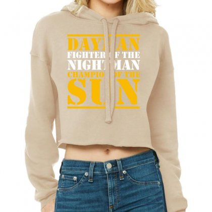 Dayman! Cropped Hoodie Designed By Helloshop