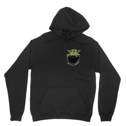 Baby Yoda In A Pocket   For Black Unisex Hoodie Designed By Hot Maker