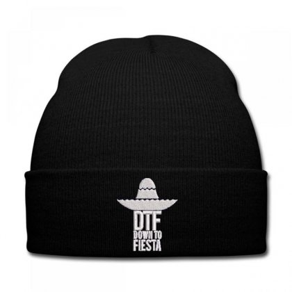Dtf Down To Fiesta Embroidered Hat Knit Cap Designed By Madhatter