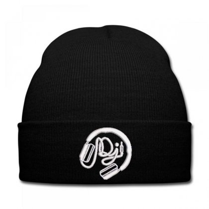Dj Embroidered Hat Knit Cap Designed By Madhatter