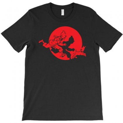 Funny Tintin And Snowy Movie T-shirt Designed By R1dw4n