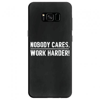 Lamar Jackson Nobody Cares Work Harder   For Dark Samsung Galaxy S8 Case Designed By Hot Maker