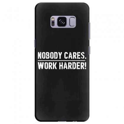 Lamar Jackson Nobody Cares Work Harder   For Dark Samsung Galaxy S8 Plus Case Designed By Hot Maker