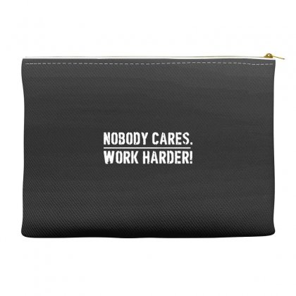 Lamar Jackson Nobody Cares Work Harder   For Dark Accessory Pouches Designed By Hot Maker