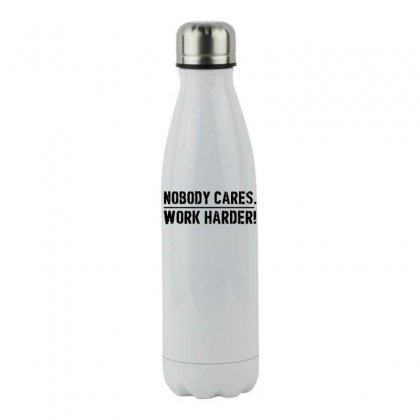 Lamar Jackson Nobody Cares Work Harder   For Light Stainless Steel Water Bottle Designed By Hot Maker