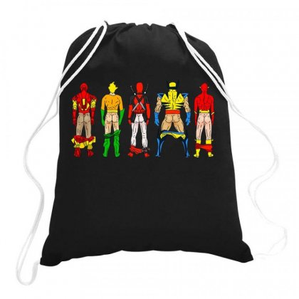 Heroes Butts Squad Drawstring Bags Designed By Hot Maker