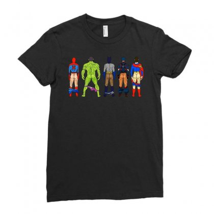 Heroes Butts Hot Ladies Fitted T-shirt Designed By Hot Maker