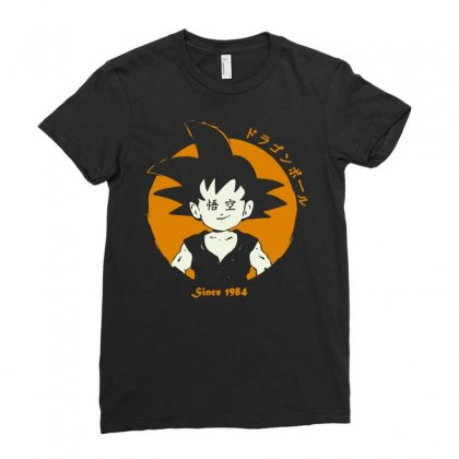 Goku Since 1984 Ladies Fitted T-shirt Designed By Hot Maker