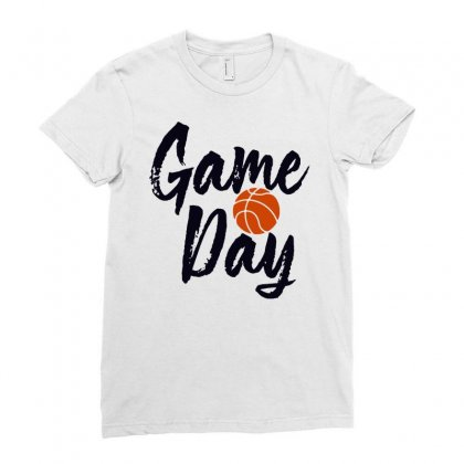 Game Day Happy Day Basketball Lovely Ladies Fitted T-shirt Designed By Hot Maker