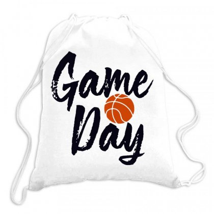 Game Day Happy Day Basketball Lovely Drawstring Bags Designed By Hot Maker