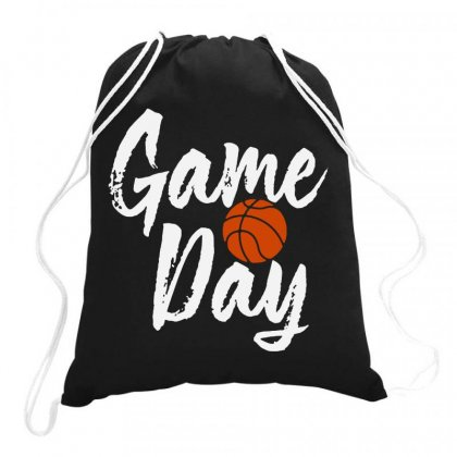 Game Day Happy Day Basketball Lovely   For Dark Drawstring Bags Designed By Hot Maker