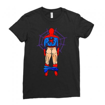 Funny Spider Man Butt Ladies Fitted T-shirt Designed By Hot Maker