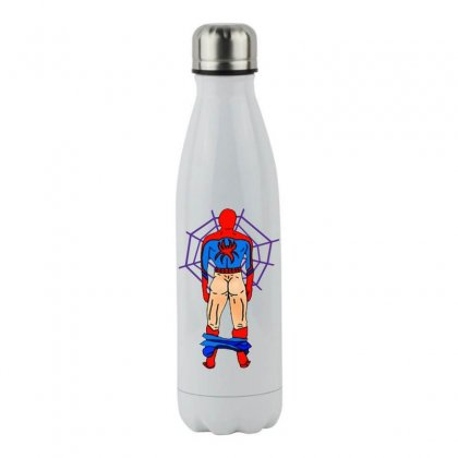 Funny Spider Man Butt Stainless Steel Water Bottle Designed By Hot Maker