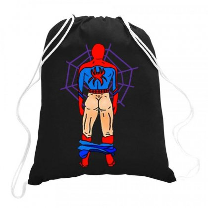 Funny Spider Man Butt Drawstring Bags Designed By Hot Maker
