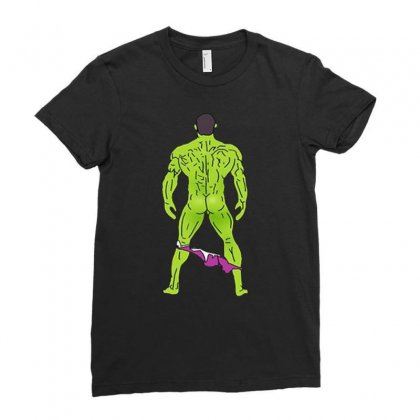 Funny Sexy Hulk Butt Ladies Fitted T-shirt Designed By Hot Maker