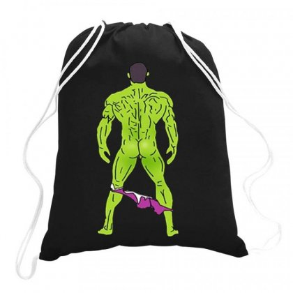 Funny Sexy Hulk Butt Drawstring Bags Designed By Hot Maker