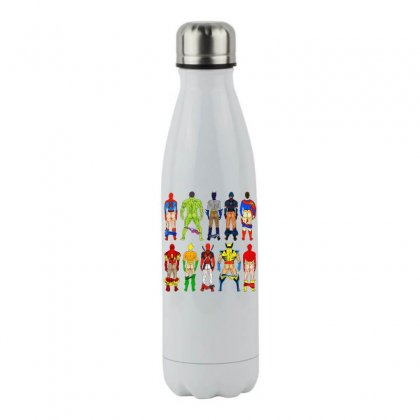 Funny Heroes Butts Stainless Steel Water Bottle Designed By Hot Maker