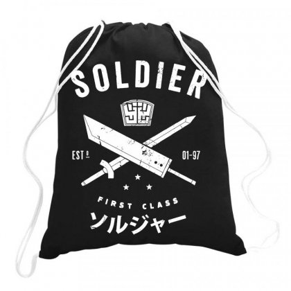 Soldier For Dark Drawstring Bags Designed By Jablay