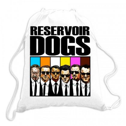 Reservoir Dogs Squad Drawstring Bags Designed By Jablay