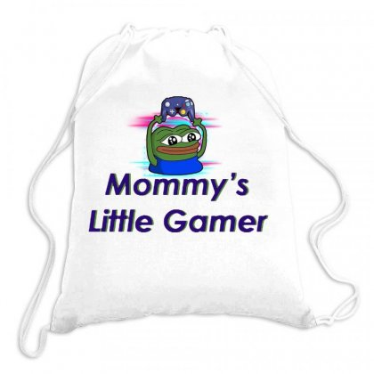 Mommy's Little Gamer Drawstring Bags Designed By Jablay
