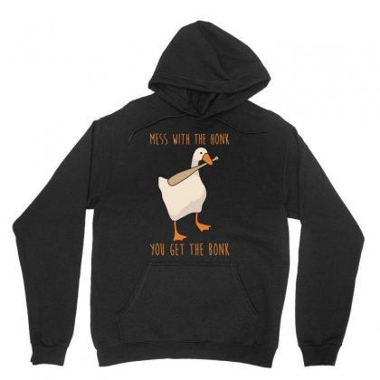 Mess With The Honk You Get The Bonk Untitled Goose Game Unisex Hoodie Designed By Jablay