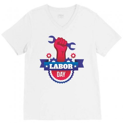 Labor Day V-neck Tee Designed By Estore