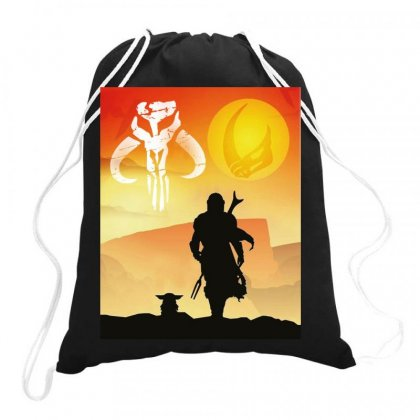 Mando Clan Of Two Drawstring Bags Designed By Jablay