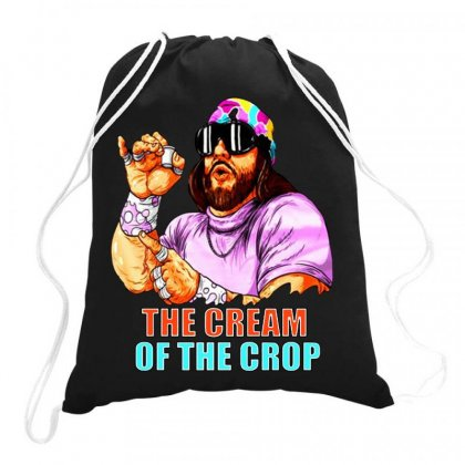 Macho Man Savage Cream Of The Crop Full Color Drawstring Bags Designed By Jablay