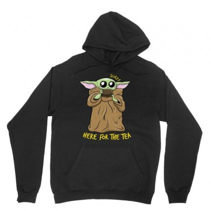 Here For The Tea   Funny Yoda Tea Time Unisex Hoodie Designed By Jablay