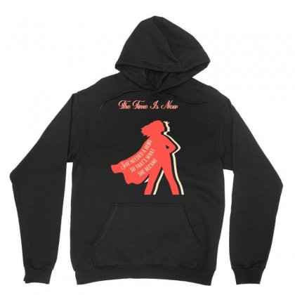 The Time Is Now   Women's March Unisex Hoodie Designed By Jablay
