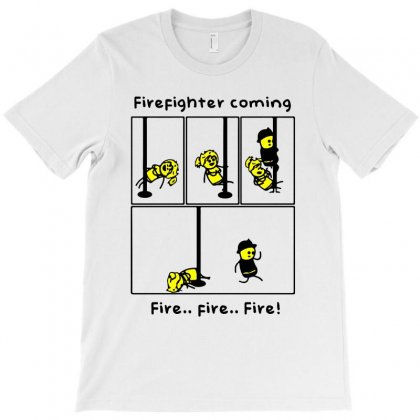 Funny Firefighter Coming Fire Fire Fire Pole Dancing T-shirt Designed By Jablay