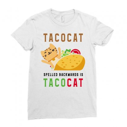 Spelled Backwards Is Tacocat Ladies Fitted T-shirt Designed By Jablay