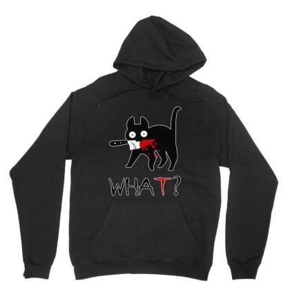Funny Murderous Cat With Knife Unisex Hoodie Designed By Jablay