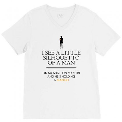 I See A Little Silhouetto Of A Man   For Light V-neck Tee Designed By Jablay