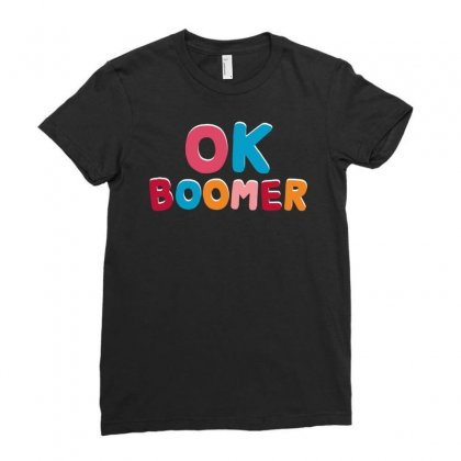 Ok Boomer   For Dark Ladies Fitted T-shirt Designed By Jablay