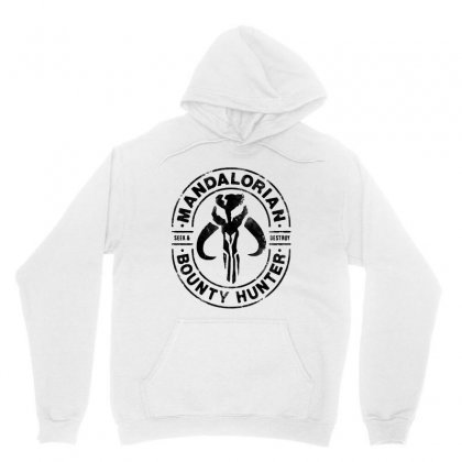 The Mandalorian Bounty Hunter Faded In Black Unisex Hoodie Designed By Jablay