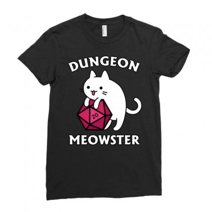 Dungeon Meowster Ladies Fitted T-shirt Designed By Jablay
