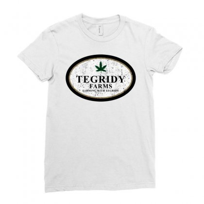 Farming With Tegridy Ladies Fitted T-shirt Designed By Jablay