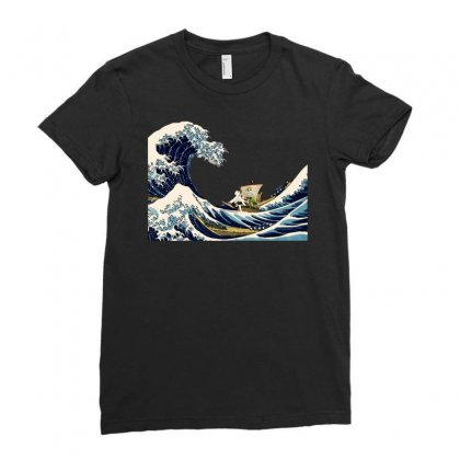Go  Wave Ladies Fitted T-shirt Designed By Jablay
