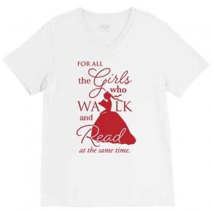 For All The Girls V-neck Tee Designed By Jablay