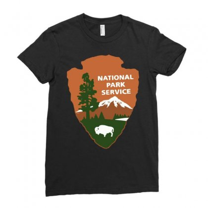 National Park Service Ladies Fitted T-shirt Designed By Jablay