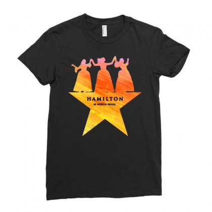 Hamilton An American Musical   Golden Ladies Fitted T-shirt Designed By Jablay
